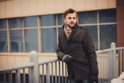 portrait d'un homme en veste