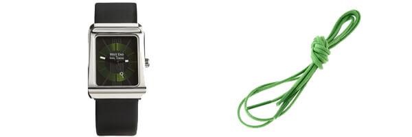 Montre Simon Carter, West End, WE101 Vert et lacets francais vert pastourelle