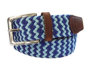 zigzag bleu tyler ceinture tressée reduit