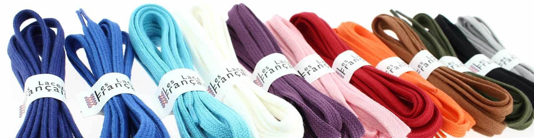 Découvrez notre gamme de lacets de couleur
