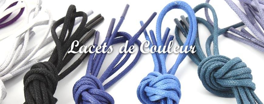 lacets de couleur plat rond ou cires