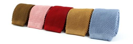 sélection de cravates tricot