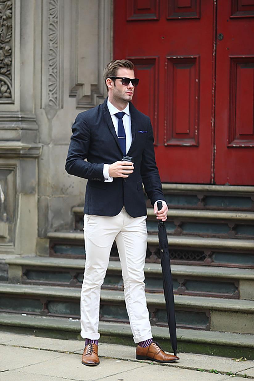 cravate tricot en week end