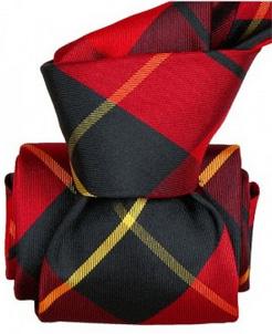 cravate style ecossais