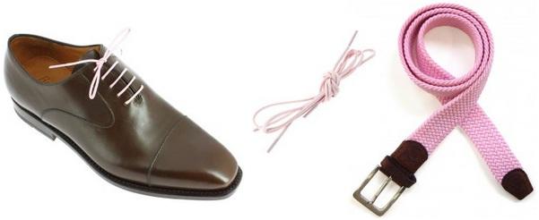 ceinture et lacets de couleur