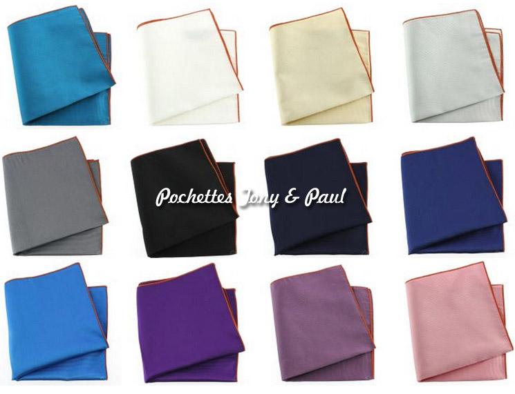 pochettes tony et paul en pure soie