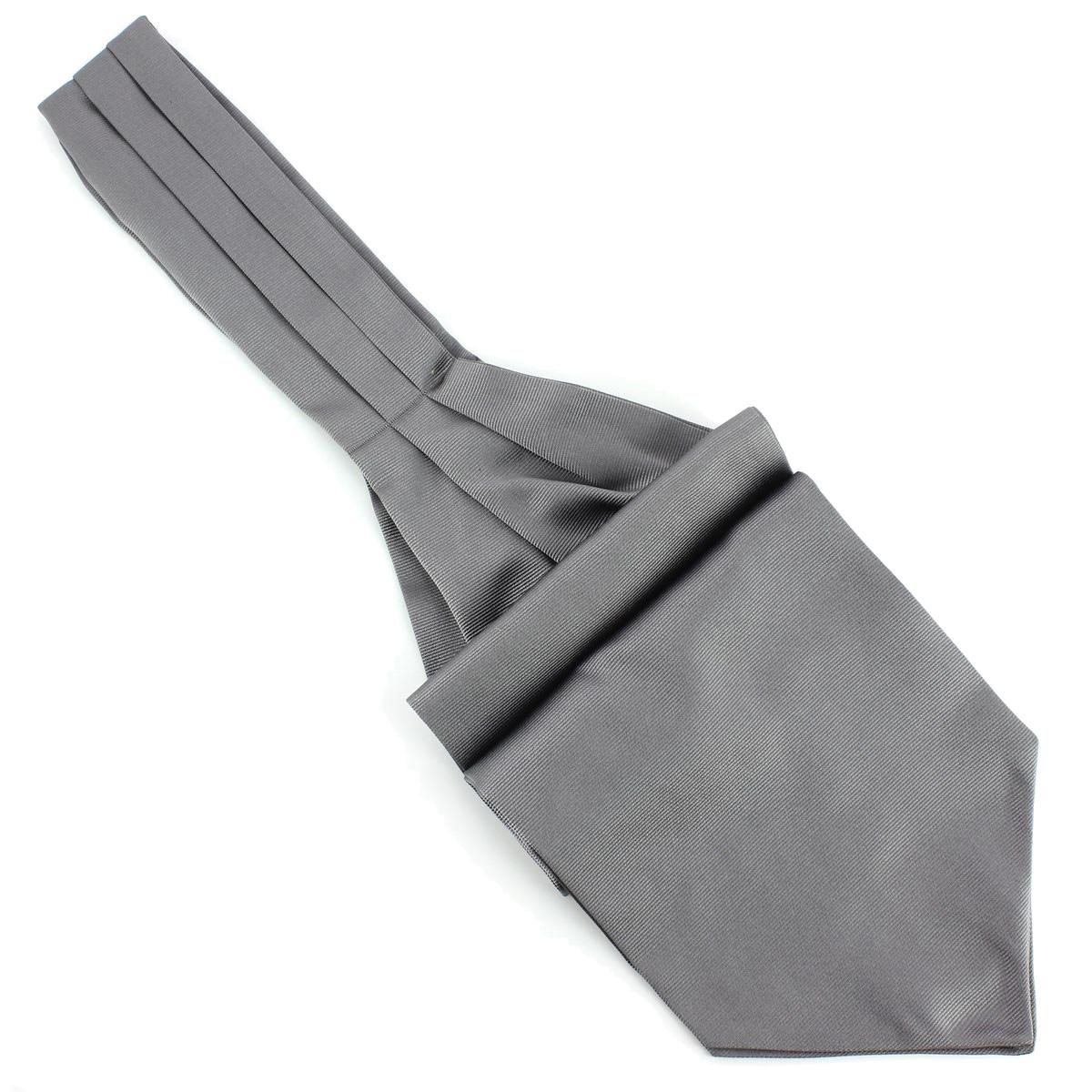 cravate ascot grise