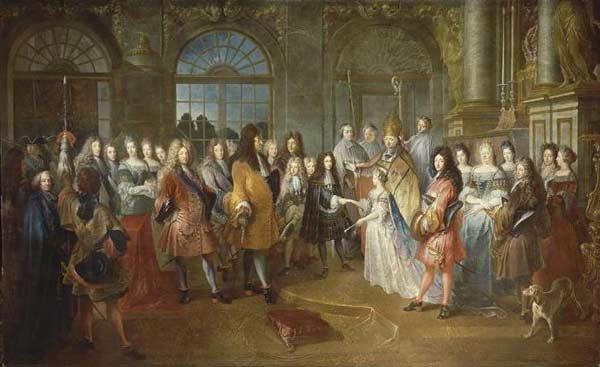 Robe de mariée sous la monarchie absolue