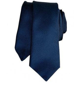 cravate slim satin bleu