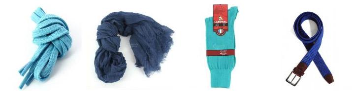 accessoires de mode en bleu