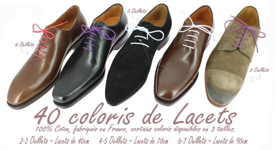 choisir ses lacets de chaussure parmi les 40 coloris
