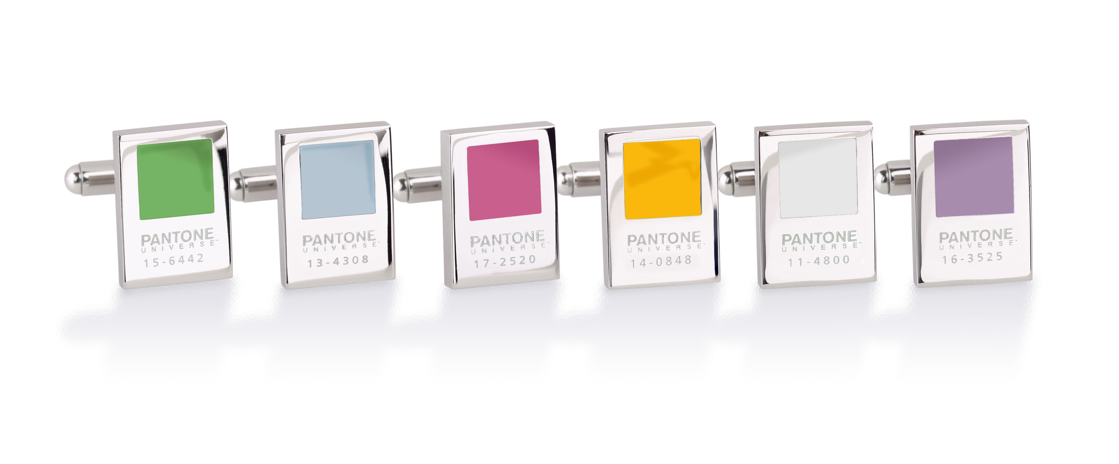 Pantone Chip Cufflink Group with Mimosa.